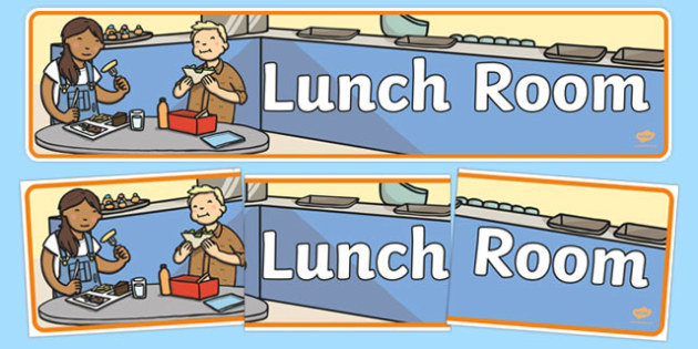 Lunch Room Display Banner
