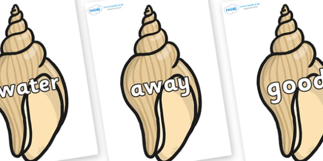 Next 200 Common Words on Conch Shells - Next 200 Common Words on  - DfES Letters and Sounds, Letters and Sounds, Letters and sounds words, Common words, 200 common words