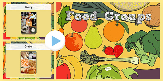 Food Groups Photo PowerPoint - food groups, food, photo powerpoint, powerpoint, food photos, food powerpoint, food groups powerpoint, photos of food groups