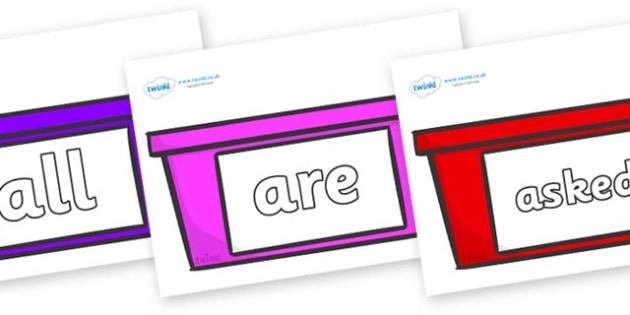 Tricky Words on Trays - Tricky words, DfES Letters and Sounds, Letters and sounds, display, words