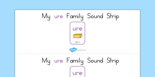 My Ure Family Sound Strip - sound family, visual aid, literacy