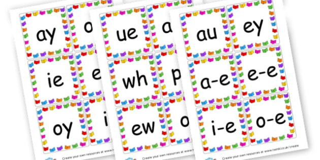 Phase 5 sounds Cards - Phase 5 Visual aids Primary Resources, Phase One, Letters, sounds