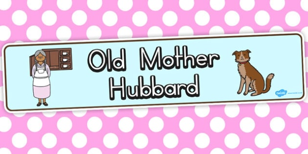 Old Mother Hubbard Display Banner - australia, display, banner
