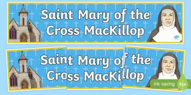 Saint Mary of the Cross MacKillop Display Banner-Australia