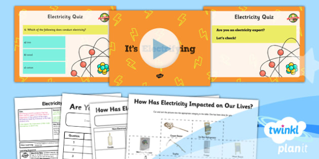 PlanIt - Science Year 6 - Electricity Lesson 1: It's Electrifying Lesson Pack - electricity, voltage, current, scientists, history