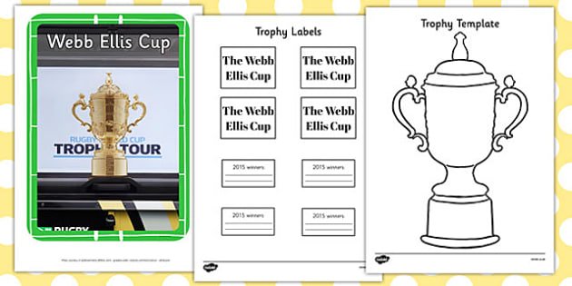 Rugby World Cup Trophy Resource Pack - rugby world cup, trophy