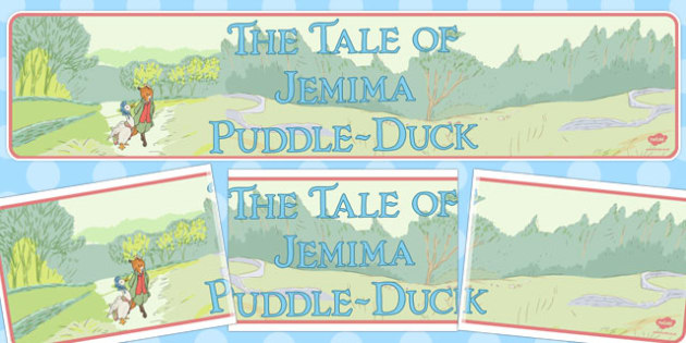 The Tale of Jemima Puddle-Duck Display Banner - jemima puddle-duck
