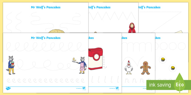 Pencil Control Sheets to Support Teaching on Mr Wolf's Pancakes - mr wolfs pancakes