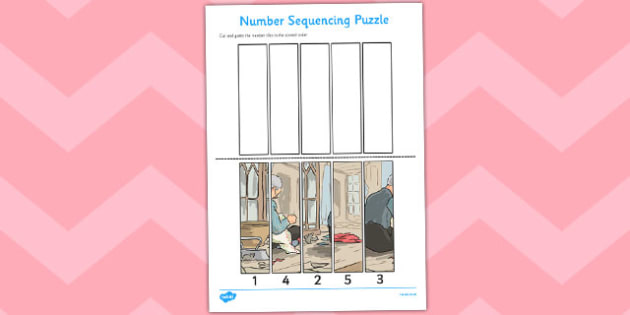 The Tailor of Gloucester Number Sequencing Puzzle - tailor, gloucester