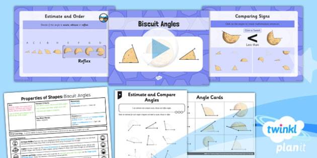 PlanIt Y5 Properties of Shapes Lesson Pack Estimate and Compare Angles - Properties of Shapes, angles, acute, obtuse, reflex, compare angles, estimate angles, degrees