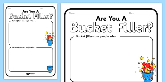 Bucket Filler Worksheet - bucket filler, worksheets, bucket filler worksheets, bucket filler sheets, bucket, filler, work, sheets