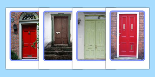 Doors Display Photos - Door, number, letterbox, letter, parcel, house, Postal Worker