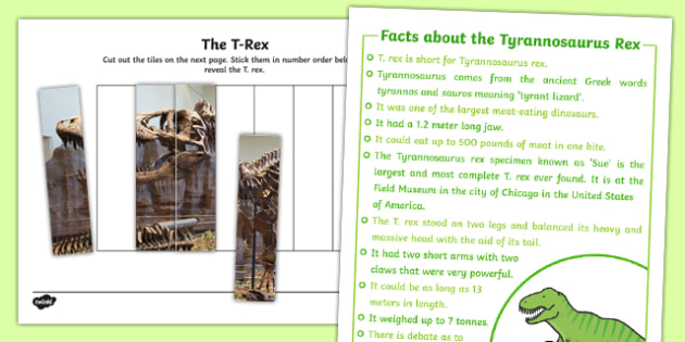 T. Rex Number Sequencing Puzzle