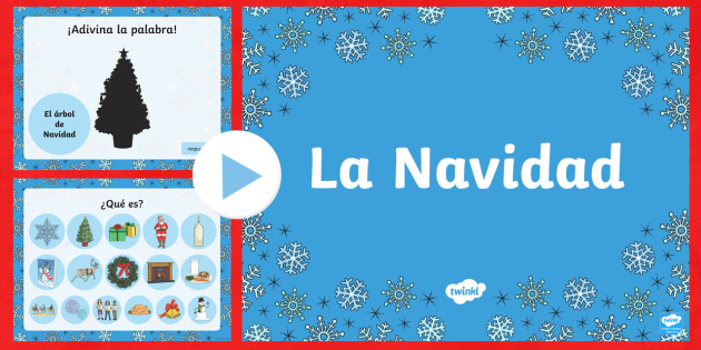 Christmas Vocabulary PowerPoint - Christmas, Spanish, vocabulary, powerpoint,