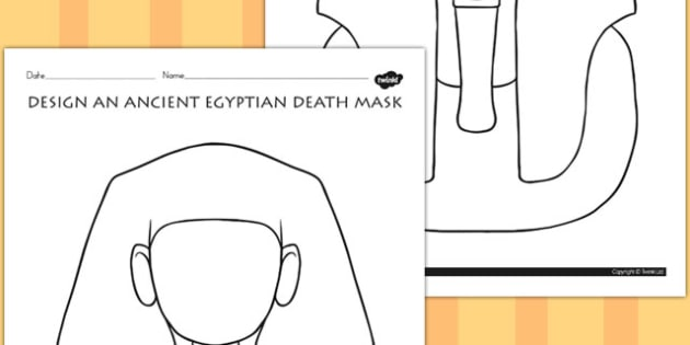 Design an Ancient Egyptian Death Mask Activity - australia, egypt