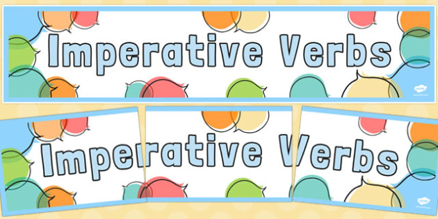 Imperative Verbs Display Banner - imperative verbs, display banner