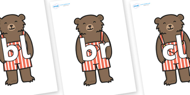 Initial Letter Blends on Little Bear - Initial Letters, initial letter, letter blend, letter blends, consonant, consonants, digraph, trigraph, literacy, alphabet, letters, foundation stage literacy