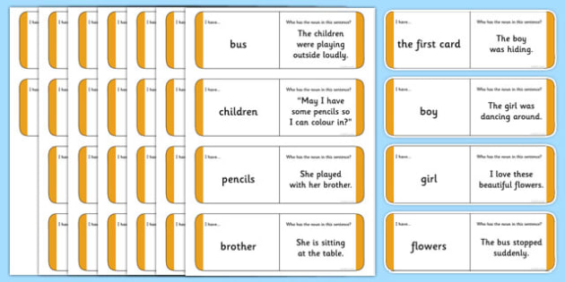 Australian Year 2 Nouns Loop Cards - australia, Phonics, grammar, language, literacy, nouns, loop cards, talking, listening, ACELA1452