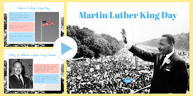 Martin Luther King Day Assembly Presentation - usa, martin luther king, ks1, assembly, presentation