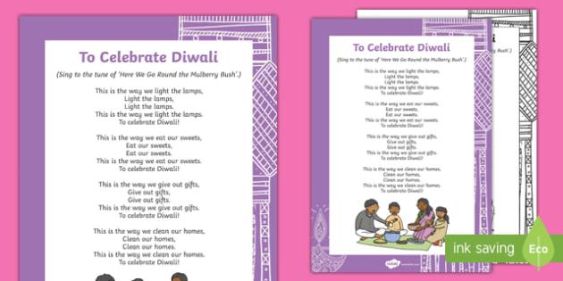 To Celebrate Diwali Song