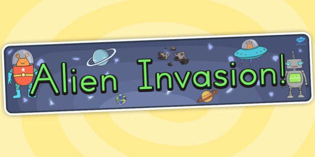 Alien Invasion Display Banner - australia, alien, display, banner
