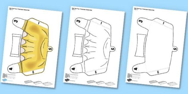 Triceratops Printable Role-Play Stompy Feet - triceratops, role-play