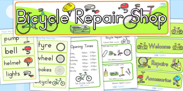 Bicycle Shop Role Play Pack - bicycle, cycle, bike, role play