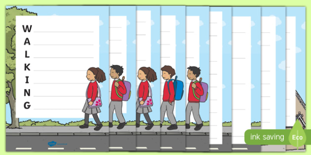 Walk to School Month Acrostic Poems Activity Pack