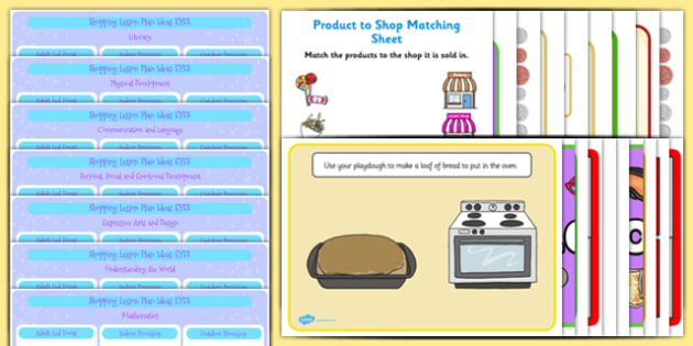 EYFS Shopping Lesson Plan and Enhancement Ideas - shopping, shop, lesson ideas