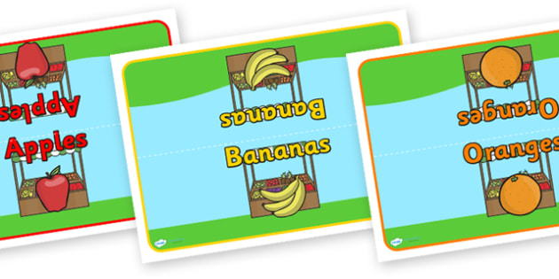 Editable Class Group Table Signs (Fruit) - Fruit, group signs, group labels, group table signs, table sign, teaching groups, class group, class groups, table label