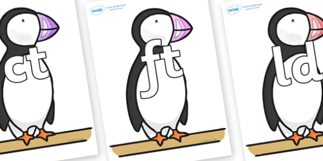 Final Letter Blends on Puffin to Support Teaching on The Great Pet Sale - Final Letters, final letter, letter blend, letter blends, consonant, consonants, digraph, trigraph, literacy, alphabet, letters, foundation stage literacy
