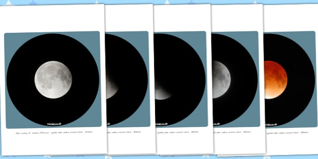 how to make a display of the lunar eclipse stages