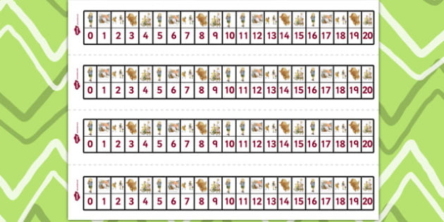 Number Track 0-20 to Support Teaching on Dogger - numeracy, line, numbers, tool, dogger