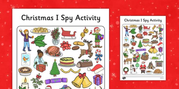 I Spy With My Little Eye Christmas Activity - I spy, little eye, christmas, activity