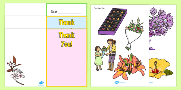 Make Your Own Thank You Card - make your own thank you card, card, making cards, thank you, thanks