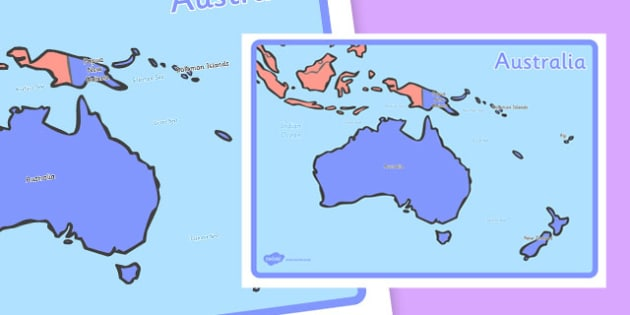 KS1 Geography Continents of the World Posters Australia - ks1, geography, continents of the world, posters, display, australasia