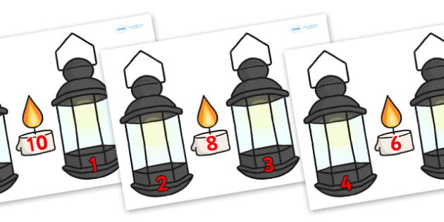 florence nightingale lamp template - lamp and candle number bonds to 10 lamp number bonds