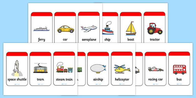 Transport Flash Cards - flash cards, cards, flash, image cards, word cards, transport, travel, travelling, transport cards, transport visual aid, quick cards, help cards, visual aid, reference cards