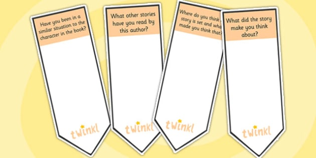 AF7 Guided Reading Question Bookmarks - assessment focus 7, af27 bookmarks, assessment focus reading, assessment focus 7 bookmarks, question bookmarks, af7