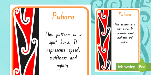 Puhoro Pattern A4 Display Poster - maori art