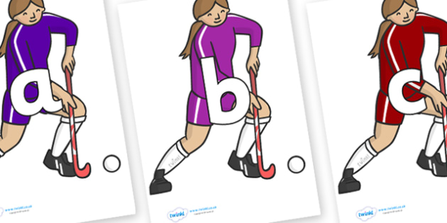 Phoneme Set on Hockey Players - Phoneme set, phonemes, phoneme, Letters and Sounds, DfES, display, Phase 1, Phase 2, Phase 3, Phase 5, Foundation, Literacy