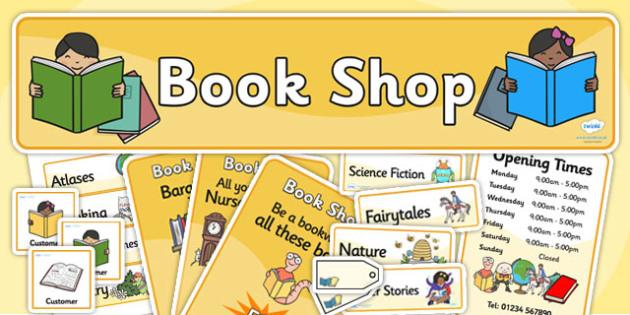 Book Shop Role Play Pack - book shop, role play, pack, role play pack, book shop pack, book shop role play, activity pack, game pack, book shop activity
