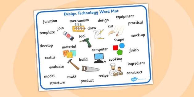 Design Technology Word Mat - design and technology, word, mat