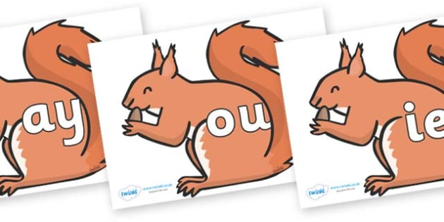Phase 5 Phonemes on Red Squirrels - Phonemes, phoneme, Phase 5, Phase five, Foundation, Literacy, Letters and Sounds, DfES, display
