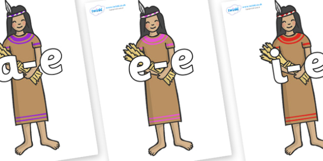 Modifying E Letters on Native American - Modifying E, letters, modify, Phase 5, Phase five, alternative spellings for phonemes, DfES letters and Sounds