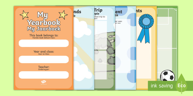 End Of Year Scrapbook English/Afrikaans - End Of Year Scrapbook - end of year, scrapbook, scrapbooking, photo, photos, memories, year, final,