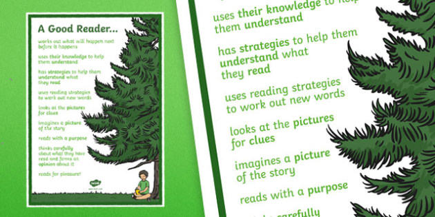 A Good Reader Poster - a good reader, reading, display posters, posters, classroom poster, classroom display, posters for display, poster display