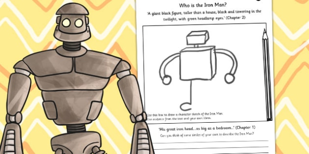 The Iron Man Character Sketch - drawing, art, design, stories