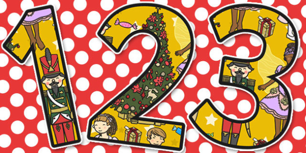 The Nutcracker Themed A4 Display Numbers - nutcracker, display