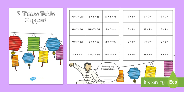 7 Times Table Zapper